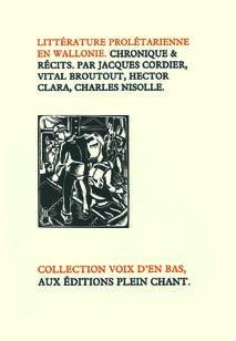 Littérature prolétarienne en Wallonie - Jacques Cordier